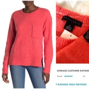 Sanctuary ultra soft pocketed sweater red